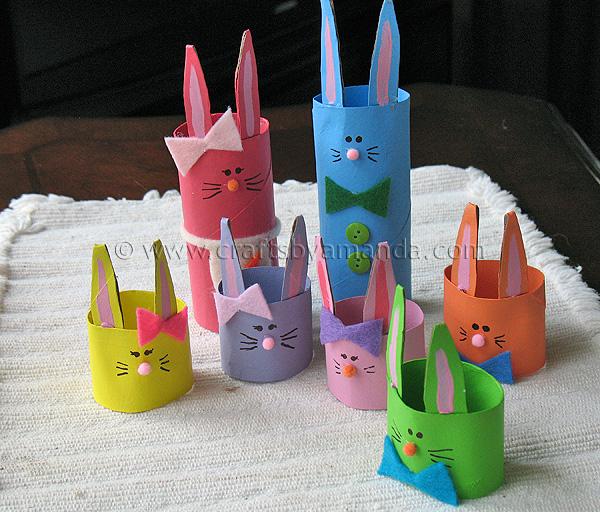 conejos-para-Pascuas-con-tubos-de-carton