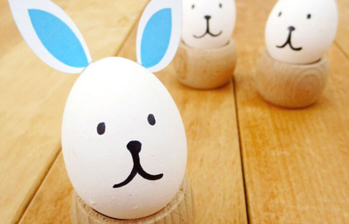 Huevo de Pascua conejo